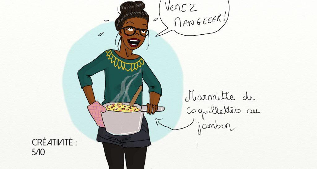 cuisine coquillettes jambon