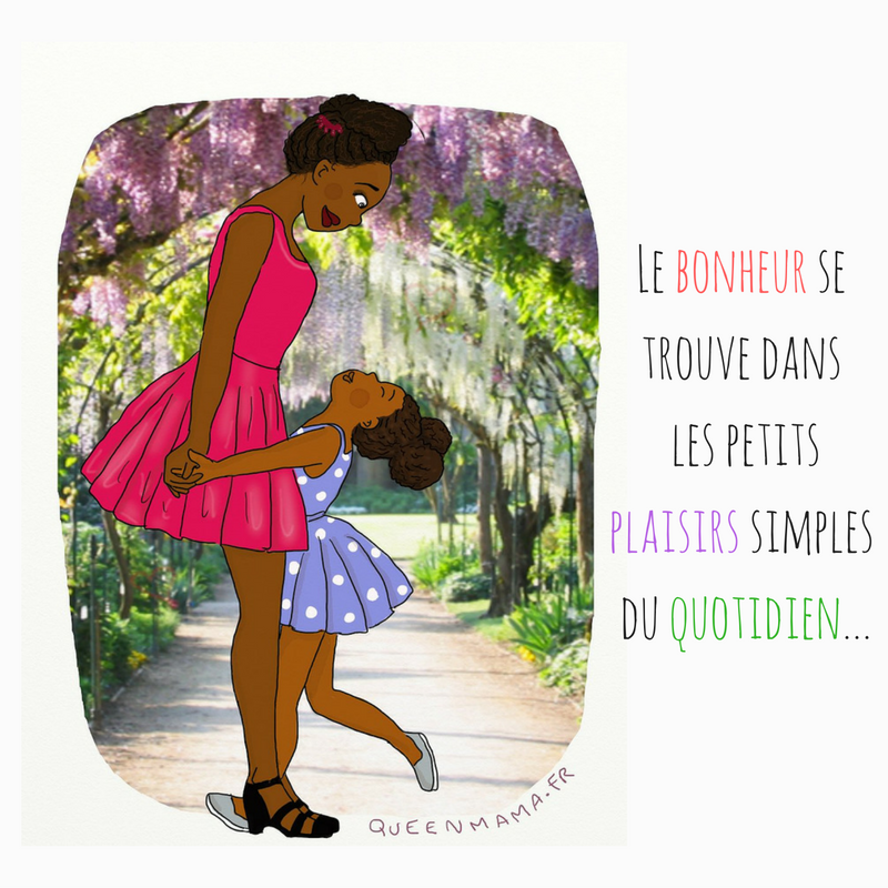 illustration maman illustratrice citation bonheur