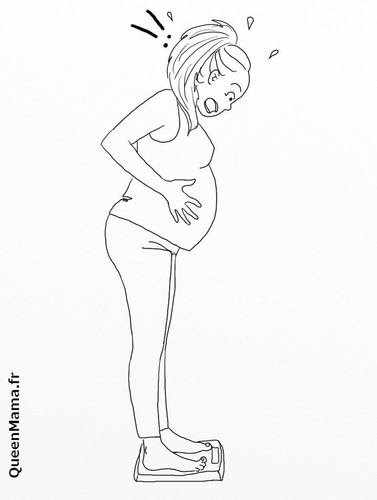 coloriage blog BD maman parent grossesse