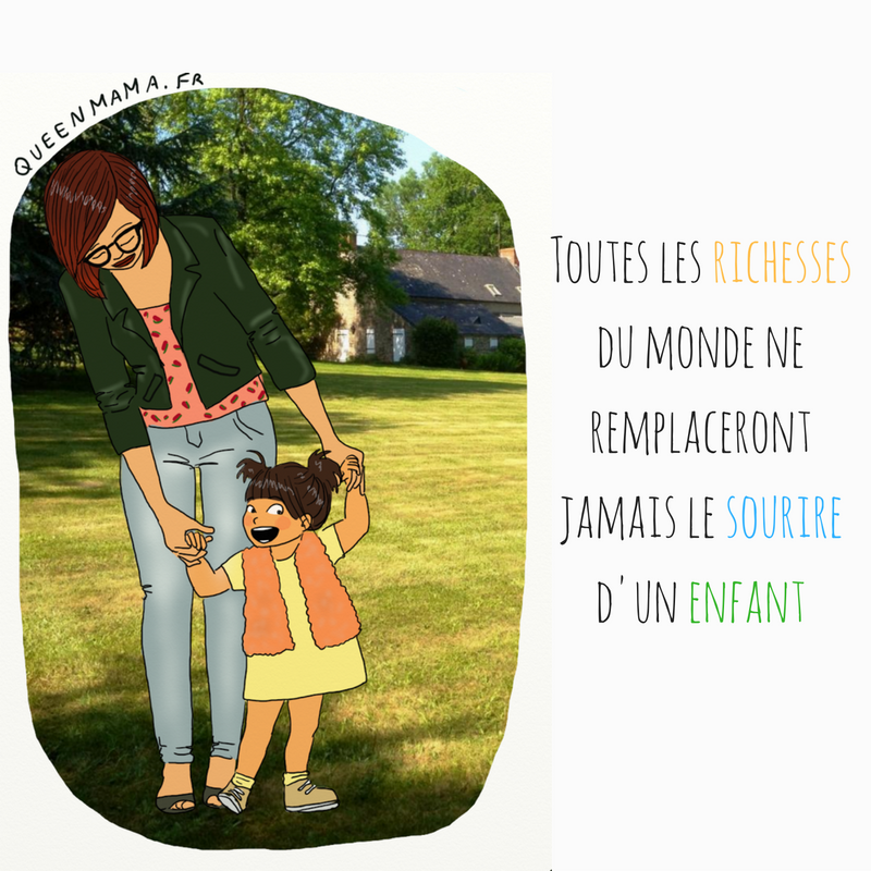 illustration illustratrice maman citation sourire