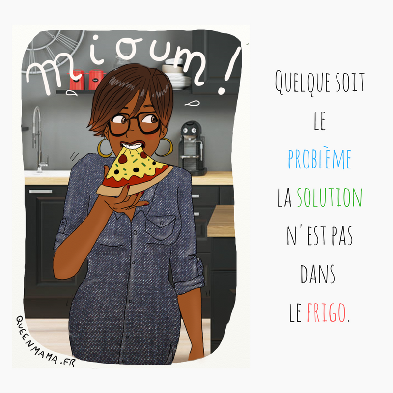 Blog illustration maman parent humour citation gourmandise
