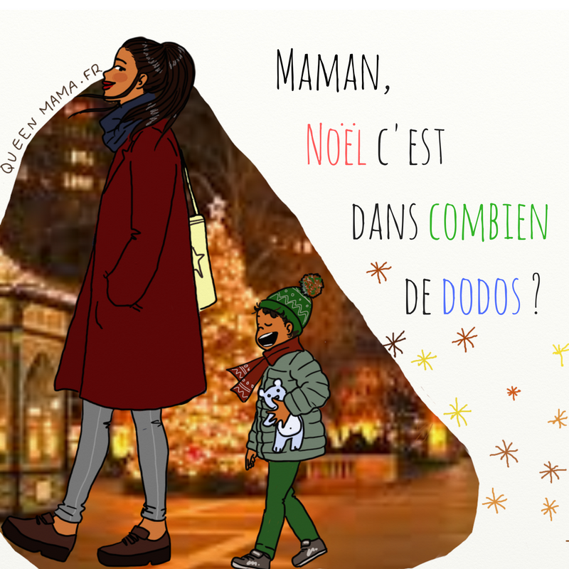 illustration, Noël illustratrice maman blog BD