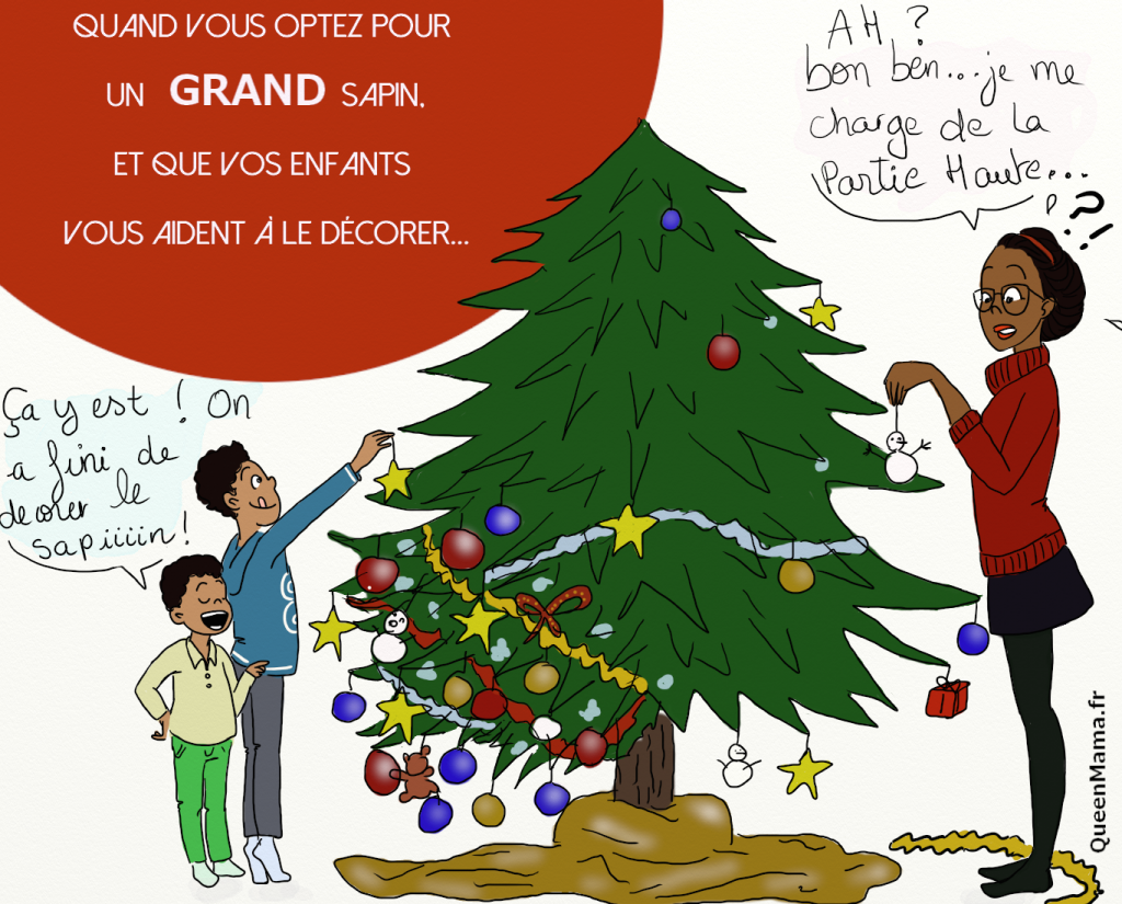 illustration noël blog BD humour parent