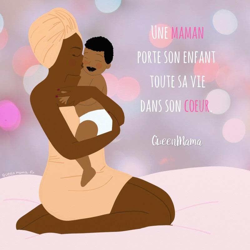 Illustration Maman Illustratrice Citation Amour Queenmama