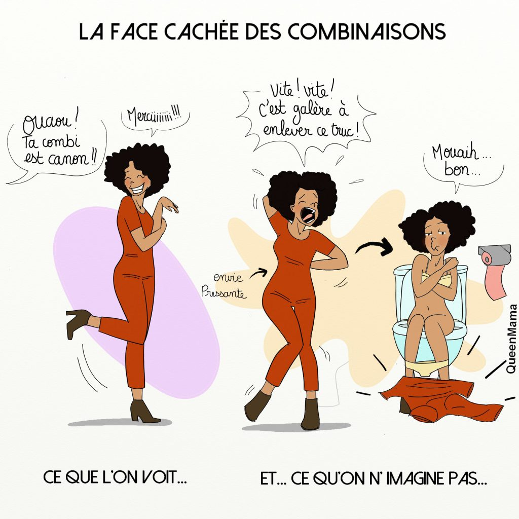 combinaison tenue mode humour illustration queenmama mode