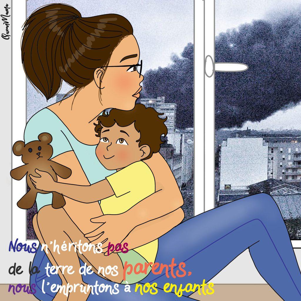 Incendie Rouen Lubrizol  catastrophe écologique