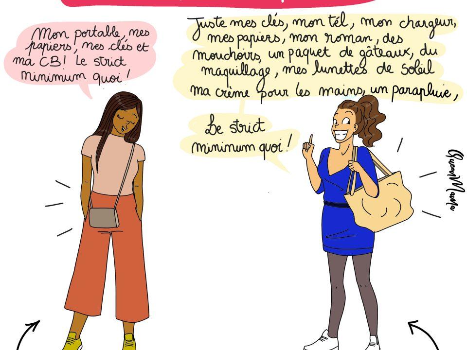 humour, illustratrice, sac des femmes