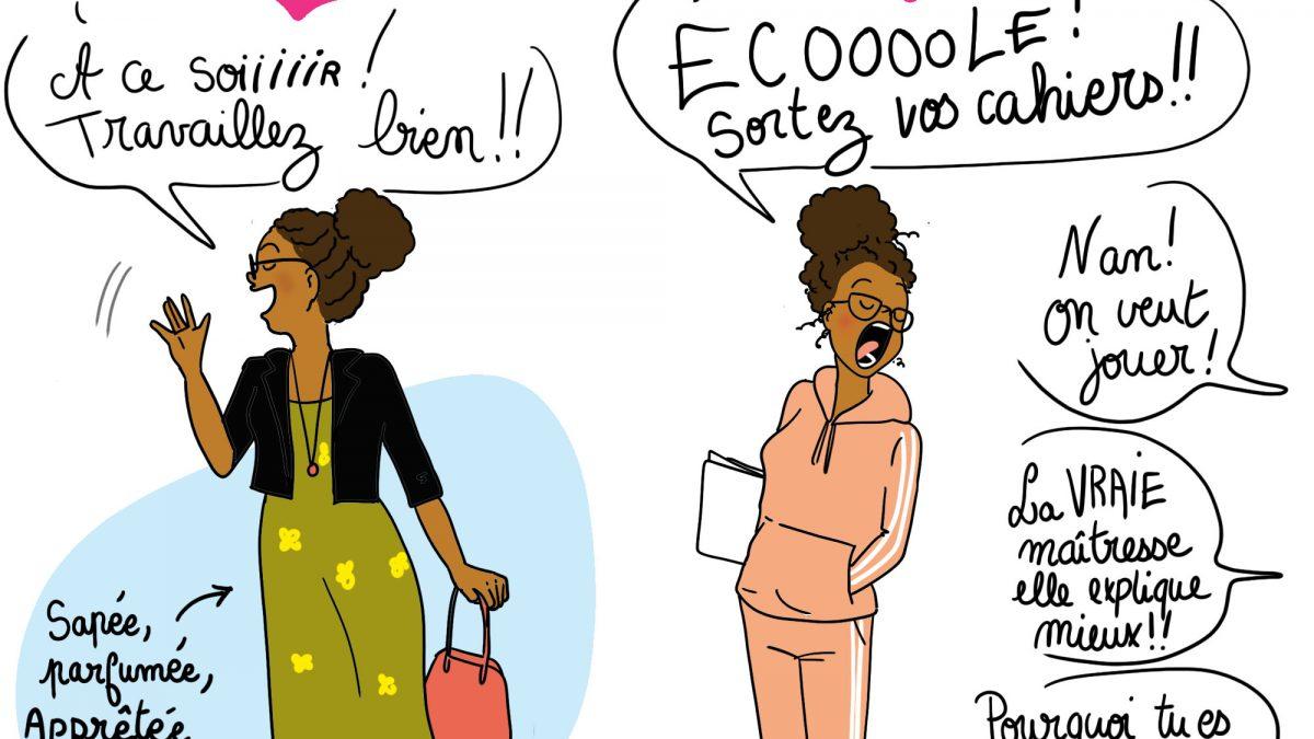illustratrice, humour, parent, vie de parent, confinement, maman, vie de maman, illustratrion