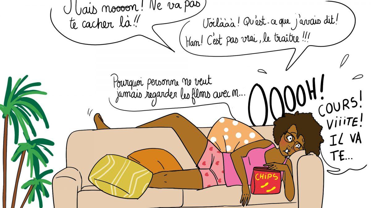 humour, illustratrice, illustration, maman, soirée netflix, série, film